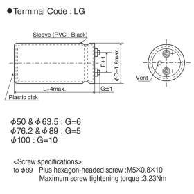 Миниатюрные алюминиевые электролитические конденсаторы NIPPON Chemi-Con, RWF серия, арт.ERWF351LGC182MC75U